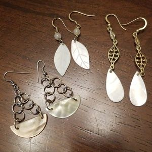 Lot of Mother of Pearl Earrings